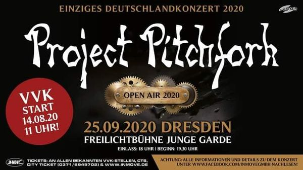 Project Pitchfork – Dresden – Junge Garde – 25.09.2020